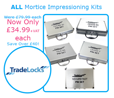 Mortice Impressioning Kits | Were £79.99 each | Now Only £34.99+VAT each | Save Over £40!