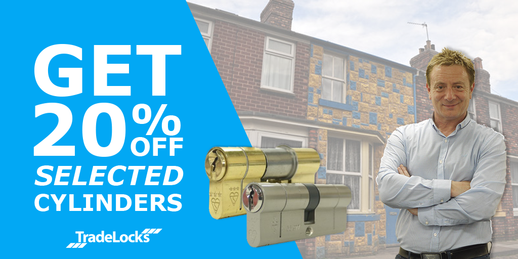 20% off selected cylinders TradeLocks